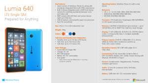 Lumia 640_Datasheet